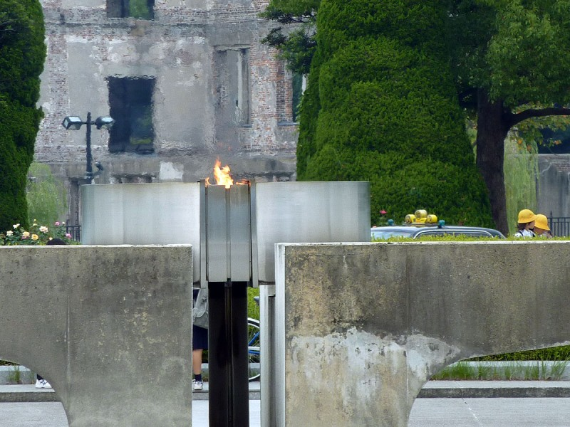 peace flame at hiroshima memorial museum japan