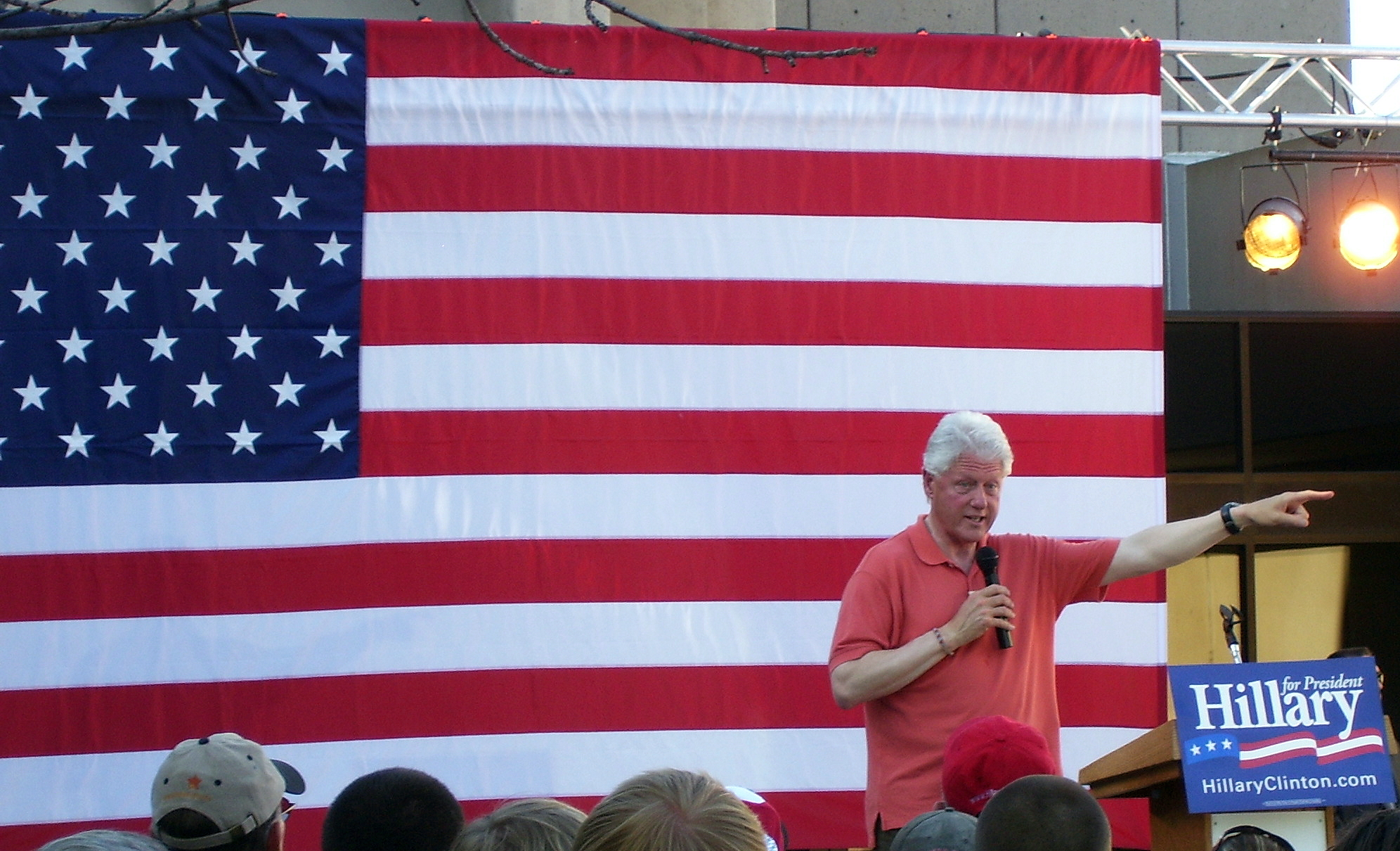 President Bill Clinton in Ashland Oregon