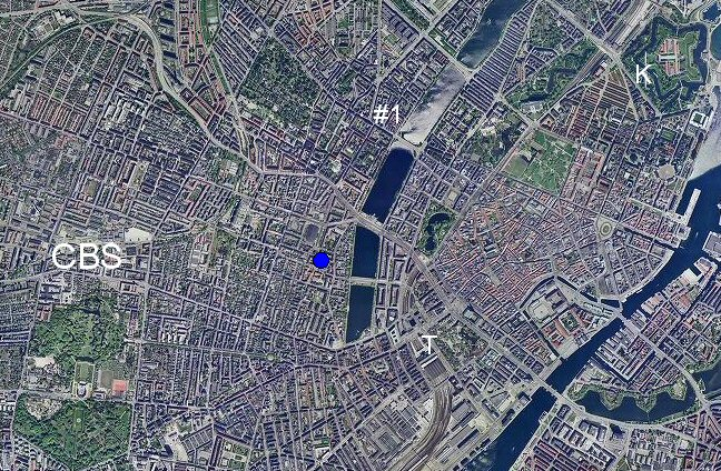 aerial view of copenhagen denmark