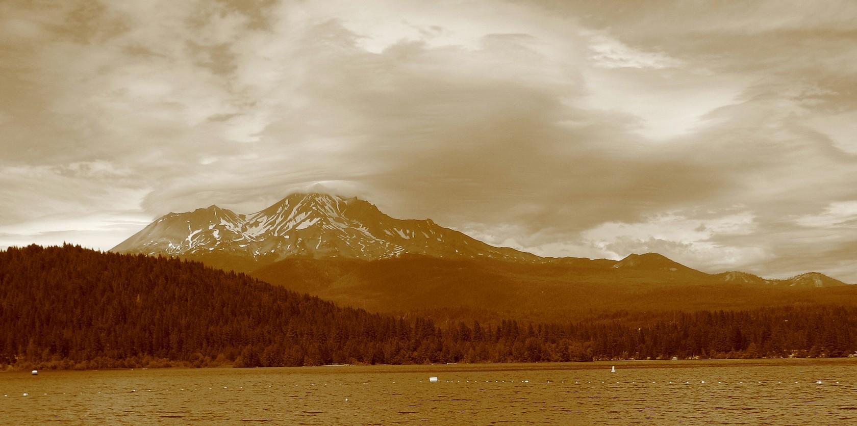 sepia Mt. Shasta