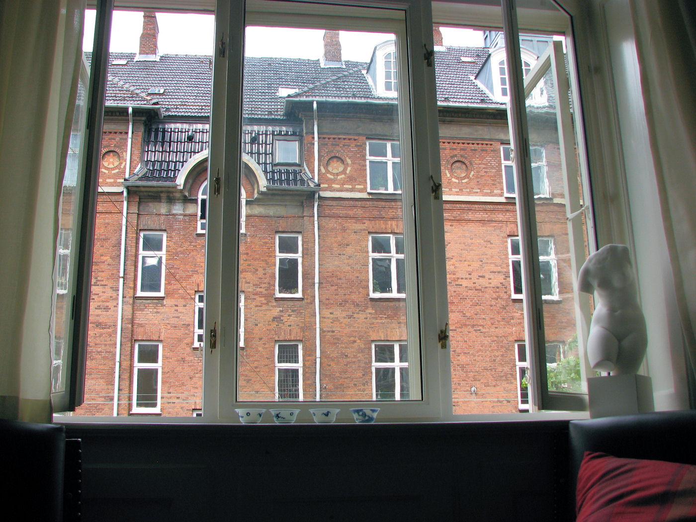 looking out living room window in copenhagen