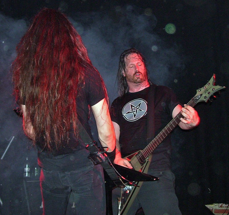 Exodus guitarist Gary Holt in Copenhagen on July 30 2008 at The Rock