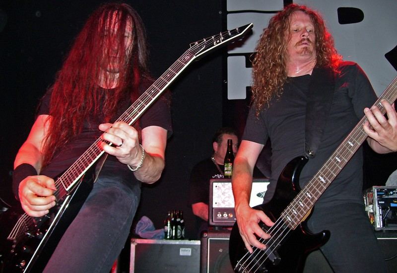 Lee Altus (guitar) and Jack Gibson (bass) of Exodus in Denmark 2008