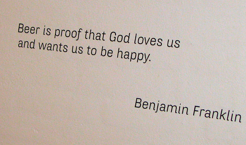 Benjamin Franklin quote on god and beer