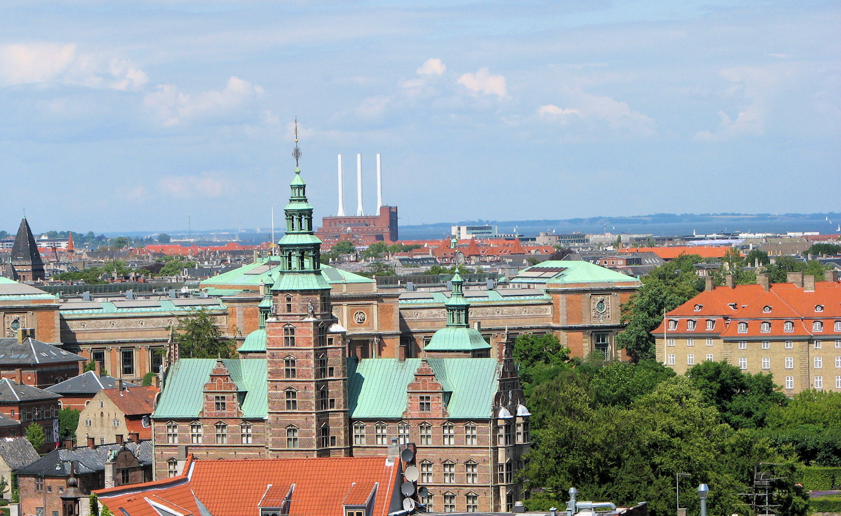 Copenhagen Denmark from the Round Tower