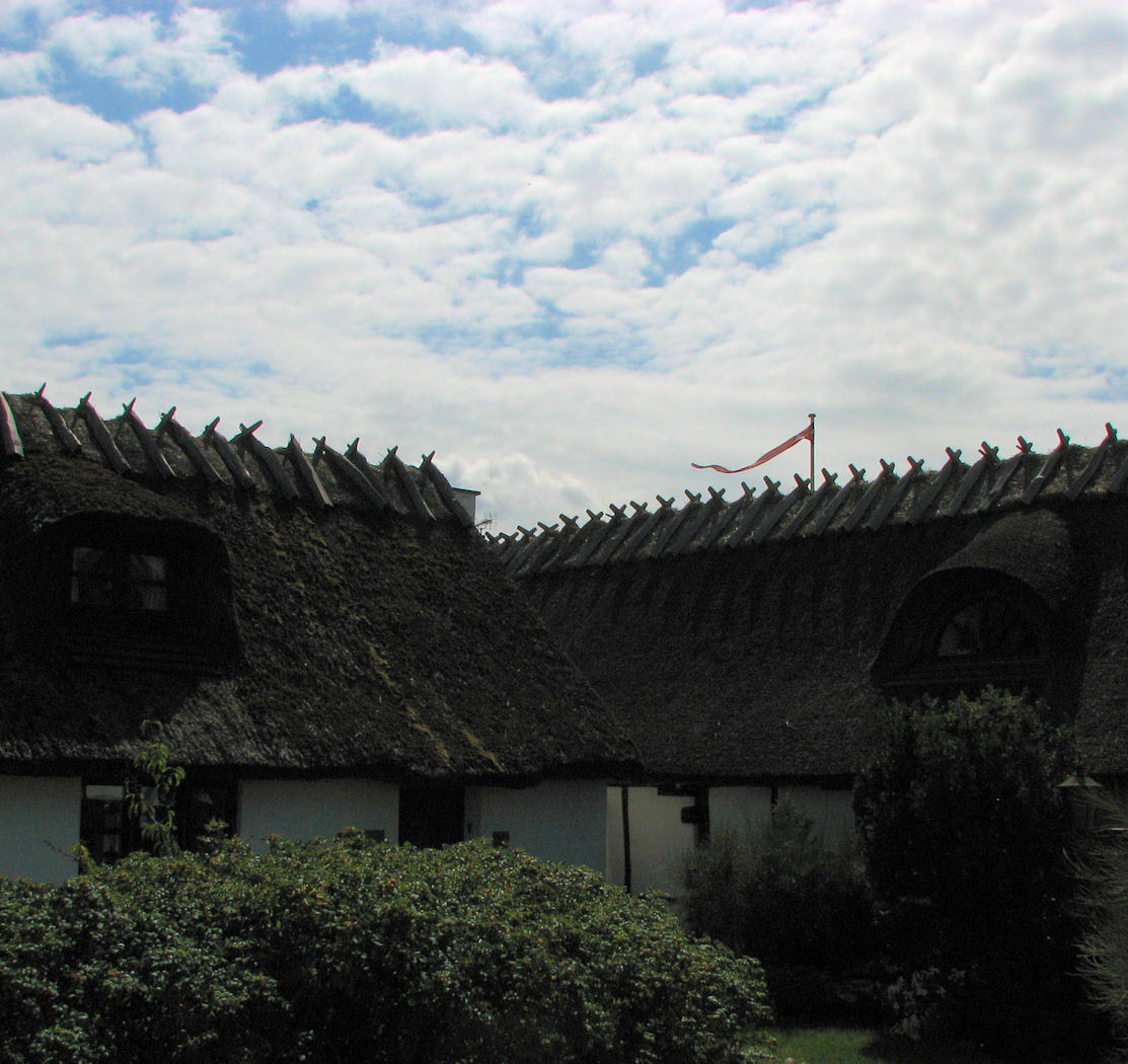 thatched roof homes in gilleleje denmark