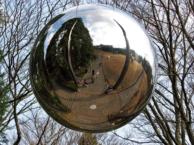 hakone open air museum mirror ball japan