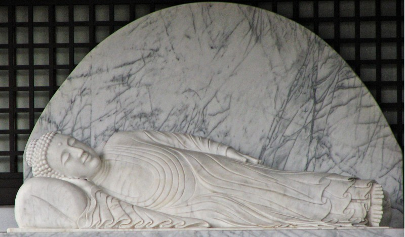 marble buddha in kyoto japan gion