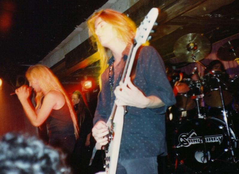 sanctuary live 1990 into the mirror black tour Dave Budbill