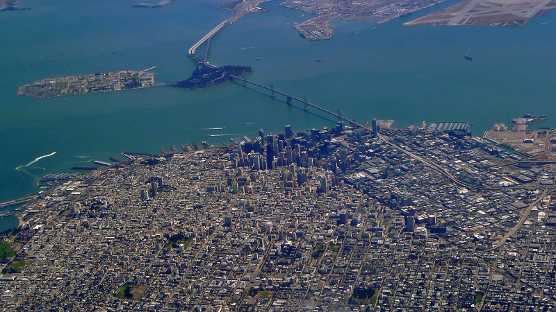 airial view of san francisco california