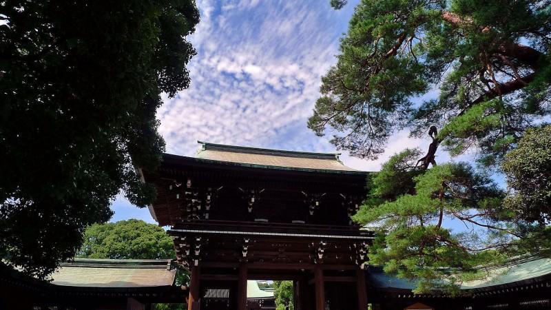 meiji jingu shrine inner gate tokyo japan 明治神宮 写真