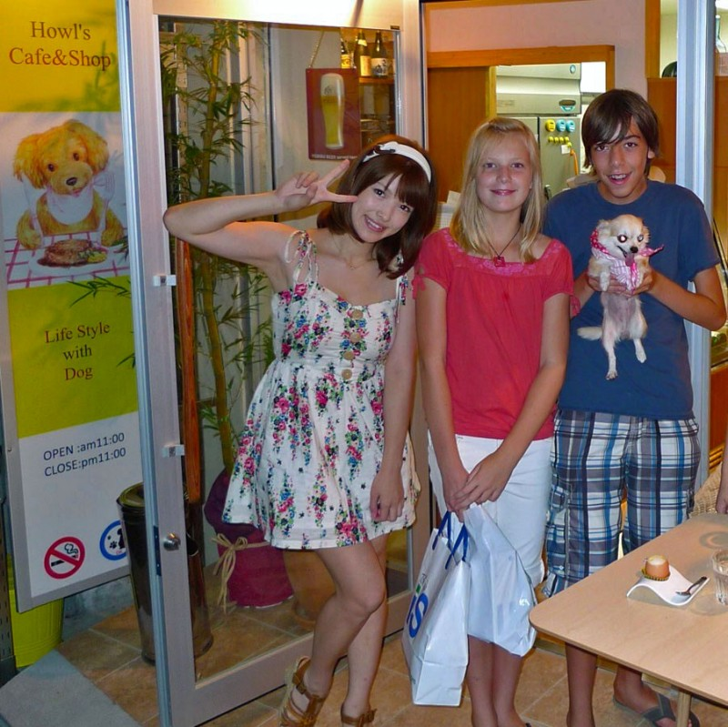 howl's cafe & shop life style with dog