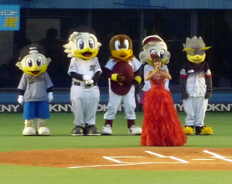 japanese national anthem chiba lotte marines mascots