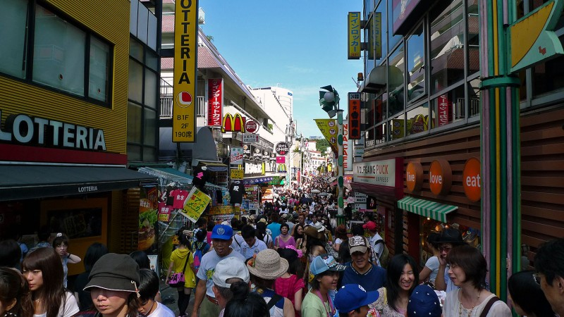 harajuku's takeshita street on a sunday