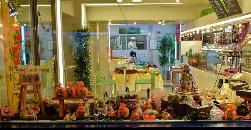halloween display takadanobaba tokyo japan