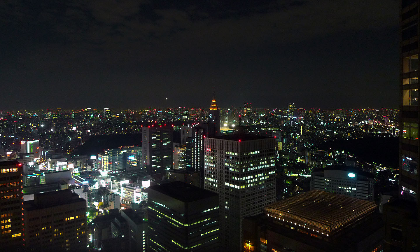 tokyo night view from skyscraper night photography
