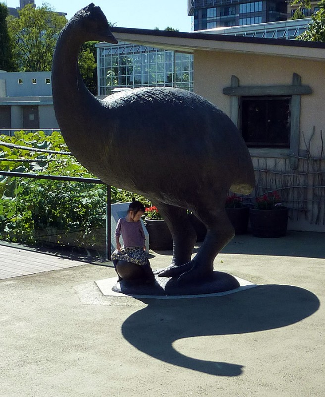 ostrich emu statue zo lays egg ueno zoo tokyo japan