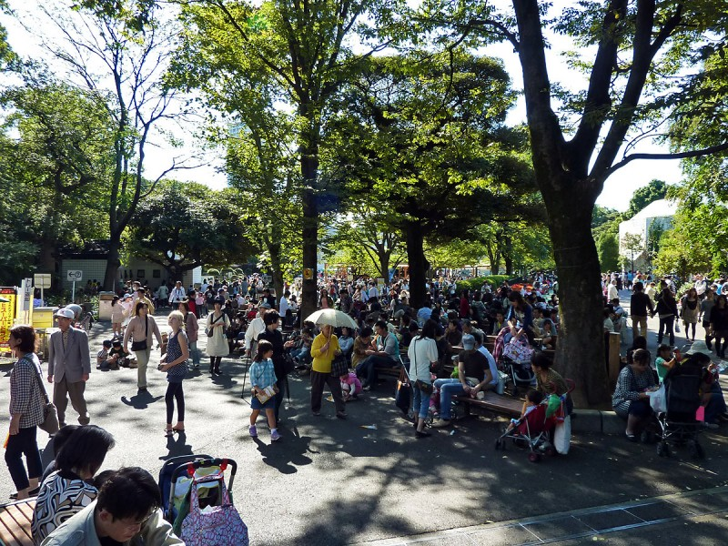 ueno zoo crowds sunday afternoon