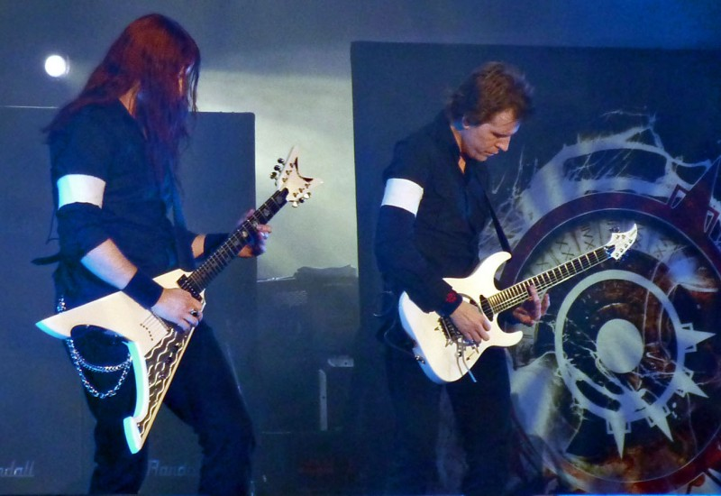 Christopher Amott Michael Amott arch enemy guitarists loud park tokyo japan 2009