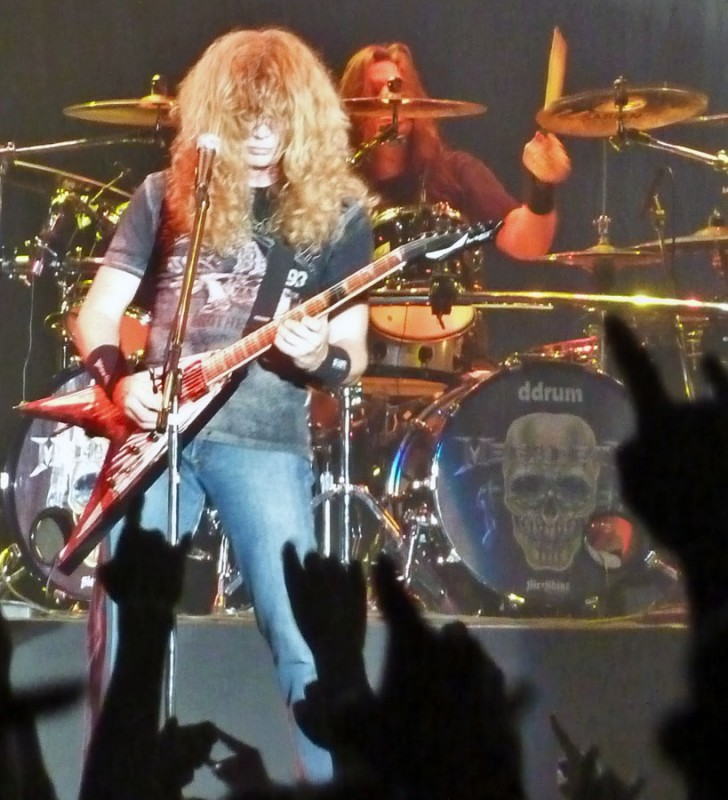 dave mustaine megadeth live japan loudpark 09 shawn drover
