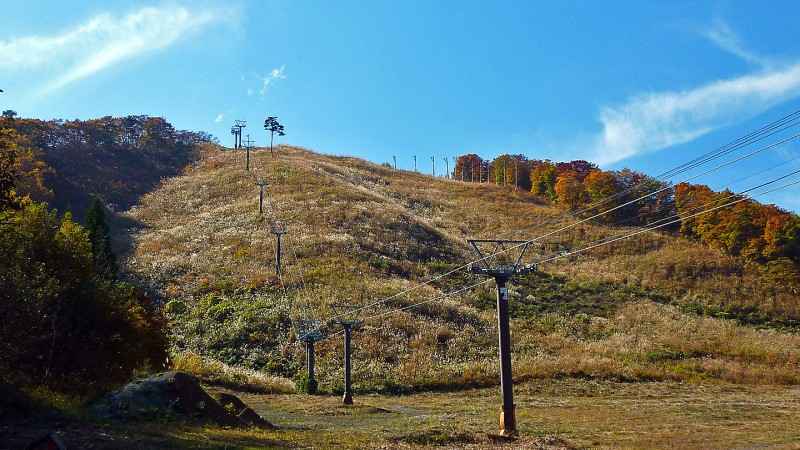 hakuba nagano japan ski lift fall happo-one Skifield Kokusai chairlift