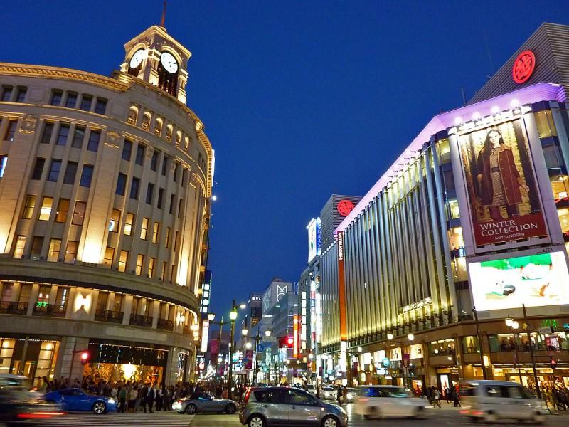 銀座 ginza tokyo night japan
