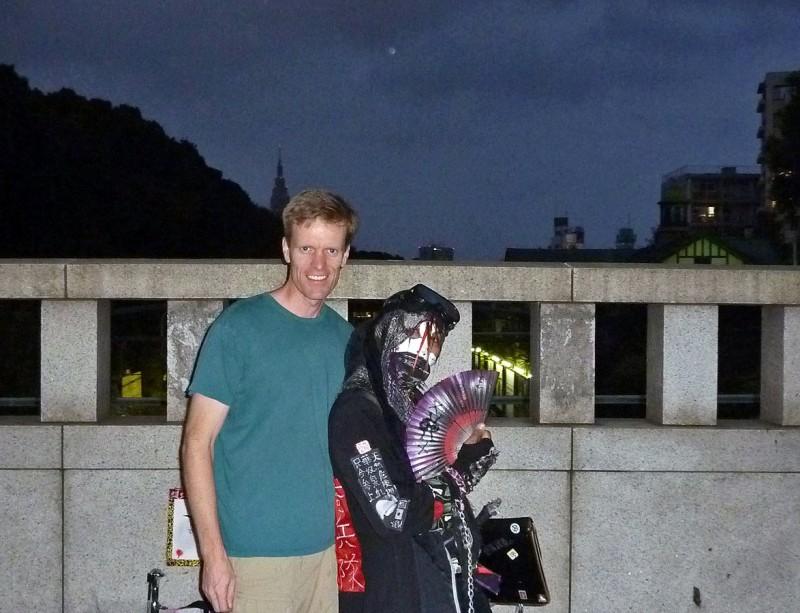 harajuku ninja dude tokyo japan halloween