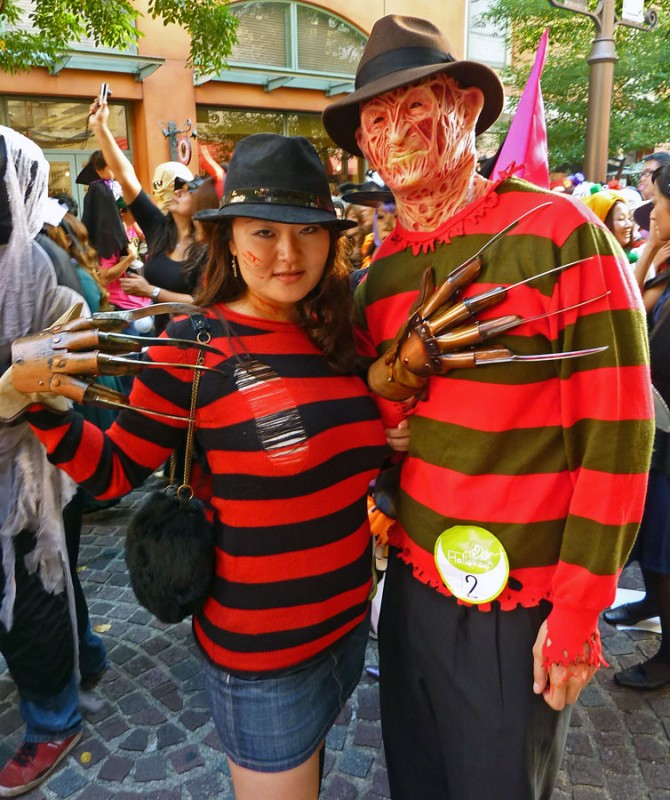 Mr. and Mrs. Freddy Krueger costume kawasaki halloween parade japan