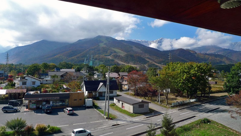 view from hotel room at hakuba japan