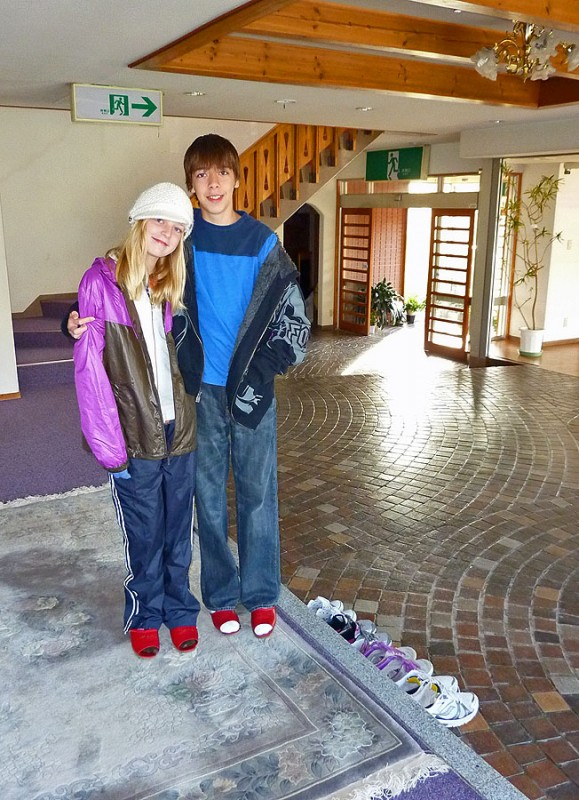 ryan and ellie in jodel hakuba mountainside hotel japan