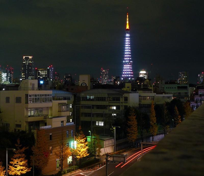 tokyo tower christmas illuminations lights japan