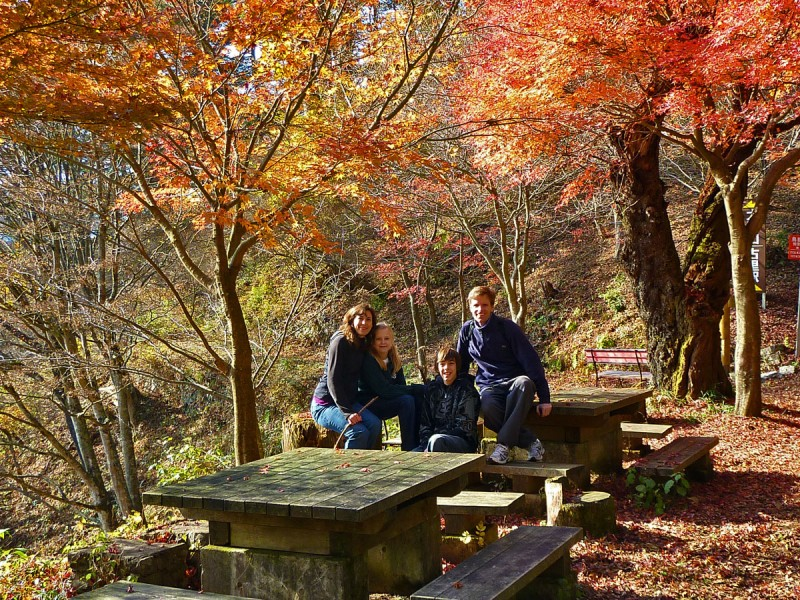 case family fall photo 2009 mount mitake japan