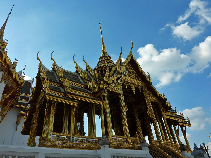 Aphorn Phimok Prasat Pavilion gold pavillion at grand palace bangkok thailand
