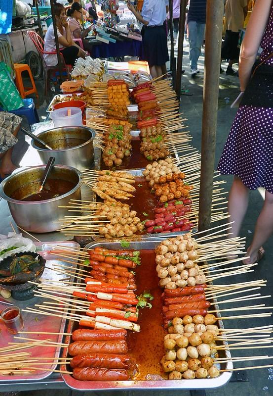 thai food street market thailand bangkok