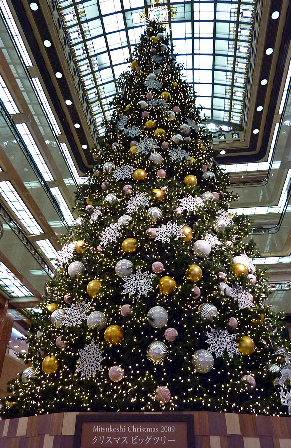 15 meter solar powered christmas tree mitsukoshi nihonbashi tokyo japan 50 feet - Solar Powered Christmas Tree