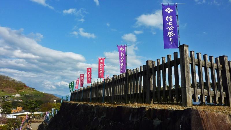 信玄公祭り castle remains kofu japan