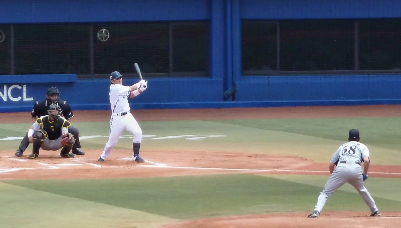 casey fossum serves up fat pitch for the hanshin tigers