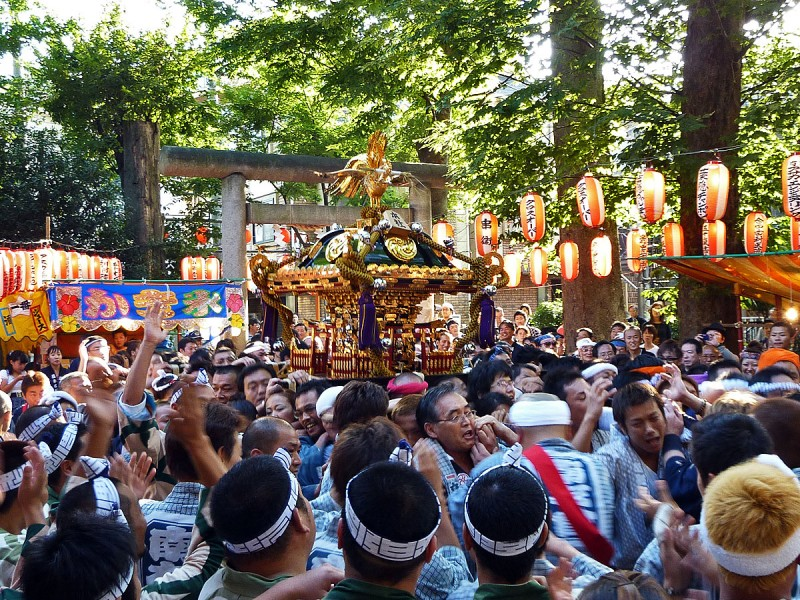 mikoshi omikoshi japanese portable shrine