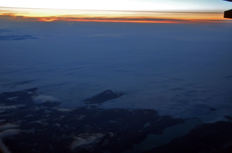 sunrise greenland summer aerial photography view from the air