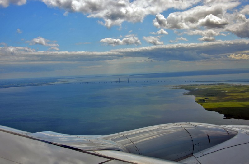 water between sweden and denmark aerial photography