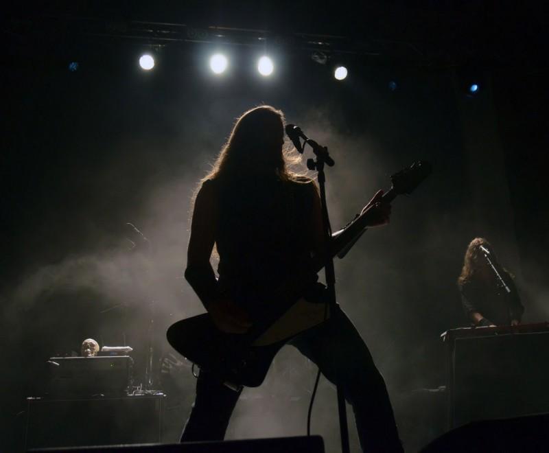 Grutle Kjellson of Enslaved at getaway rock festival 2011