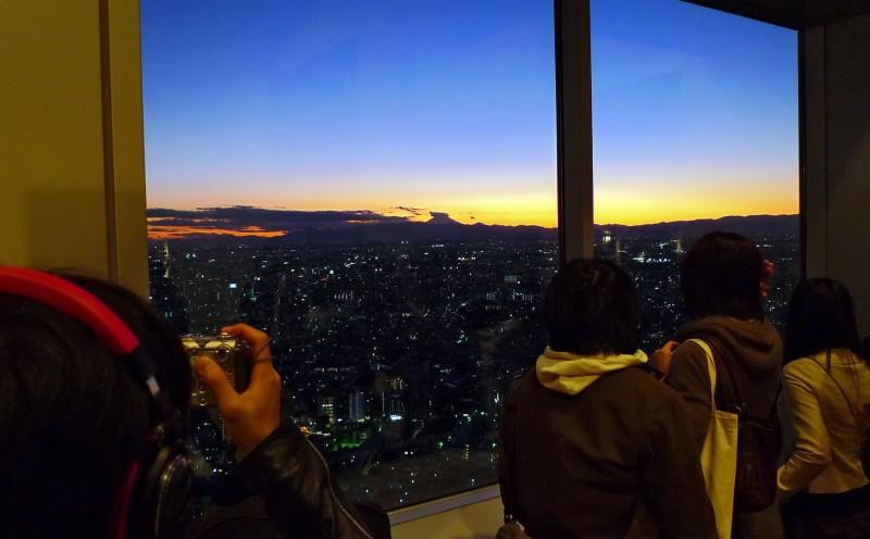 mount fuji sunset tokyo japan