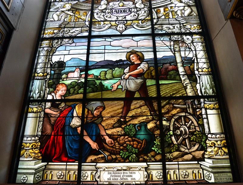 Stained Glass Windows Tyska kyrkan stockholm sweden