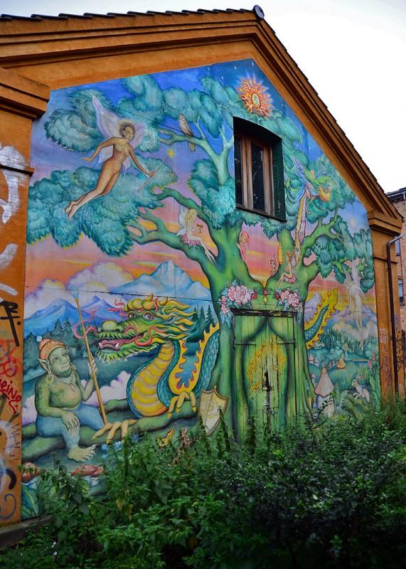 christiania mural art graffitti