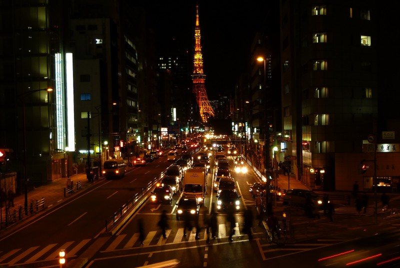 tokyo tower japan after dark