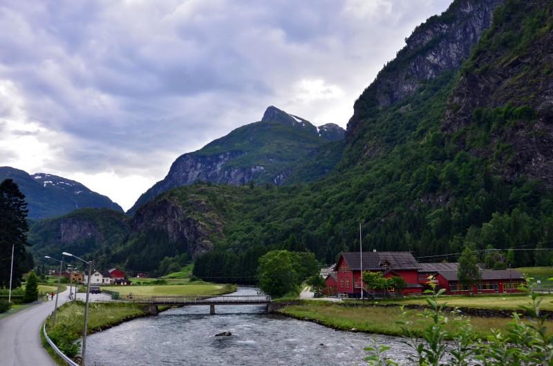 Flåm norway nutshell train fjord