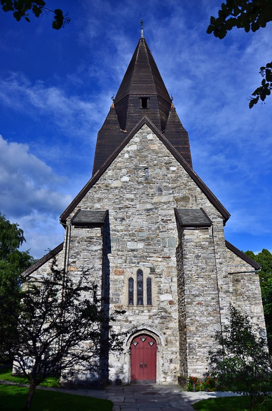 voss kyrkje vangen stone church voss norway Vangskyrkja