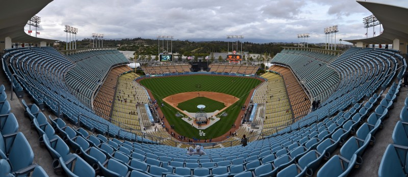 dodger stadium pano ultrawide los angeles california
