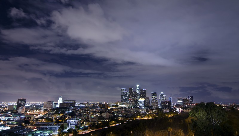 los angeles california after dark night photography
