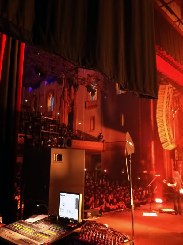 opeth side stage fox theater